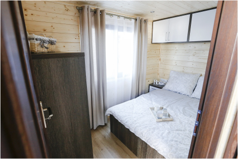 "New mobile home ""Masuria"" for sale, 31.5 m². Sizes: 9 × 3.5 m. Area: 31.5 m². Rooms: 3. Sleeping places: 6. #3"