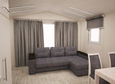 "New mobile home ""Sicily"" for sale, 37 m². Sizes: 10 × 3.9 m. Area: 39 m². Rooms: 2. Sleeping places: 4. #16"