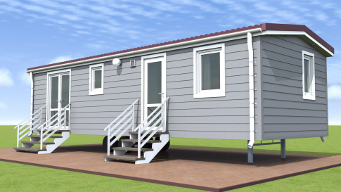 "New mobile home ""Brittany"" for sale, 37 m². Sizes: 10 × 3.9 m. Area: 39 m². Rooms: 3. Sleeping places: 6. #2"