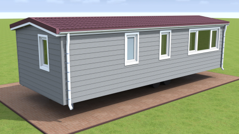 "New mobile home ""Brittany"" for sale, 37 m². Sizes: 10 × 3.9 m. Area: 39 m². Rooms: 3. Sleeping places: 6. #3"
